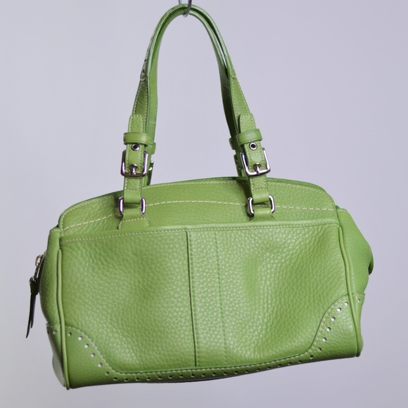 70e55c4dec Coach Handbags - Authentic COACH Hampton Green Leather Mini Satchel